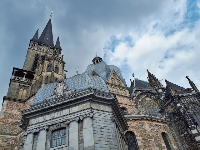 Aachen cathedral aka Dom from the side