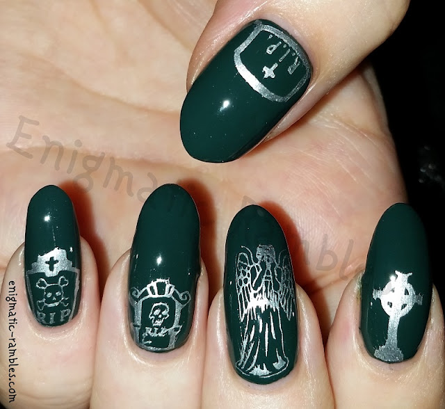 Halloween-Nail-Art-Stamped-Stamping-Nails-Graveyard-Cemetery