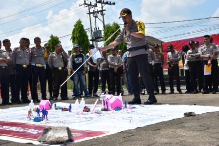 LATPRAOPS Mantap Brata Musi 2018 Kesiapan Polres Muba Jelang Pileg dan Pilpres 2019