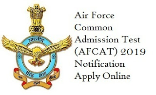 AFCAT Recruitment Notification 2019