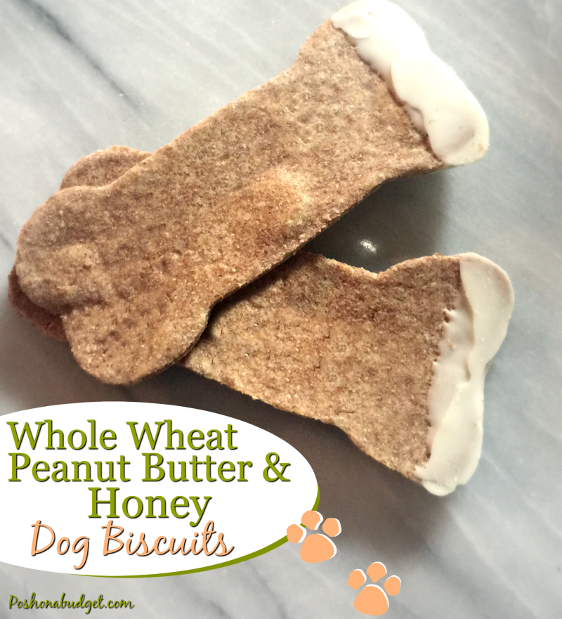 whole wheat peanut butter amp honey dog biscuits