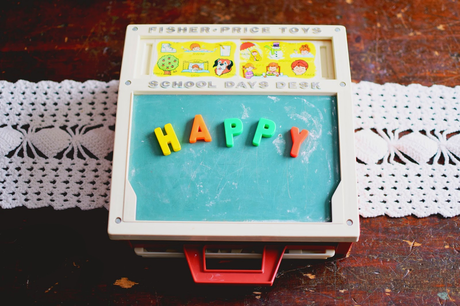 Fisher Price Vintage School Days Desk at Vintage Bliss