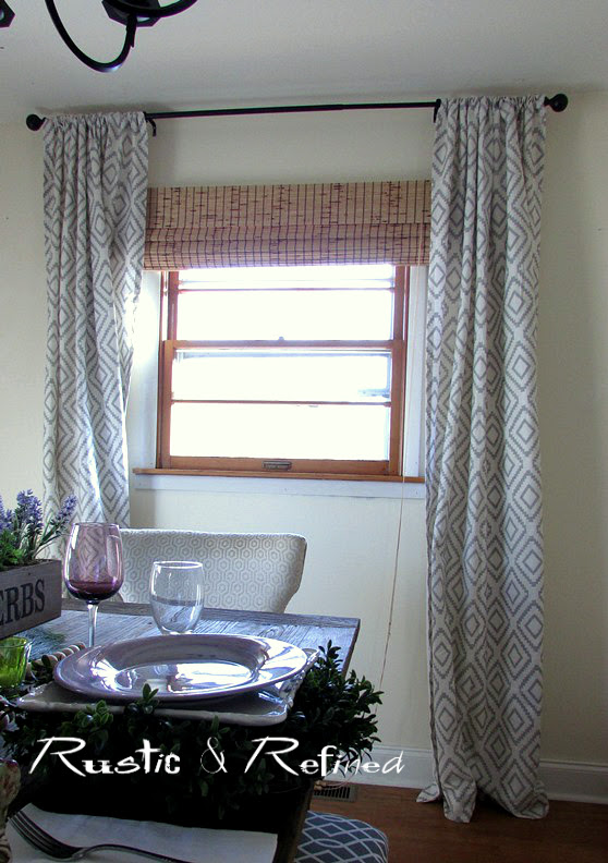 Budget Update to the Dining Room - New Curtains that transform a space.