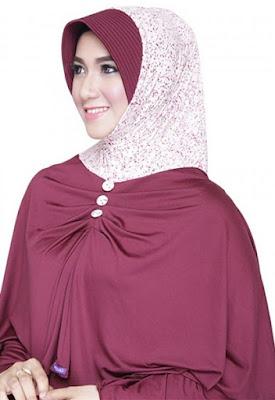 contoh model hijab simple dan praktis 9