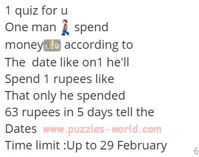 One man spend money according to the date