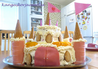 prinsessan linna kakku