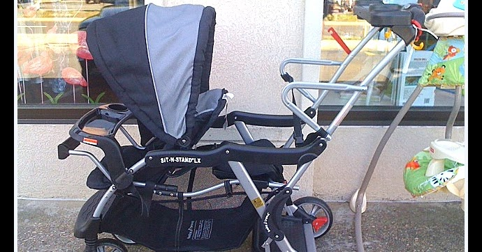 Kids Grow Baby Trend Sit N Stand Double Stroller