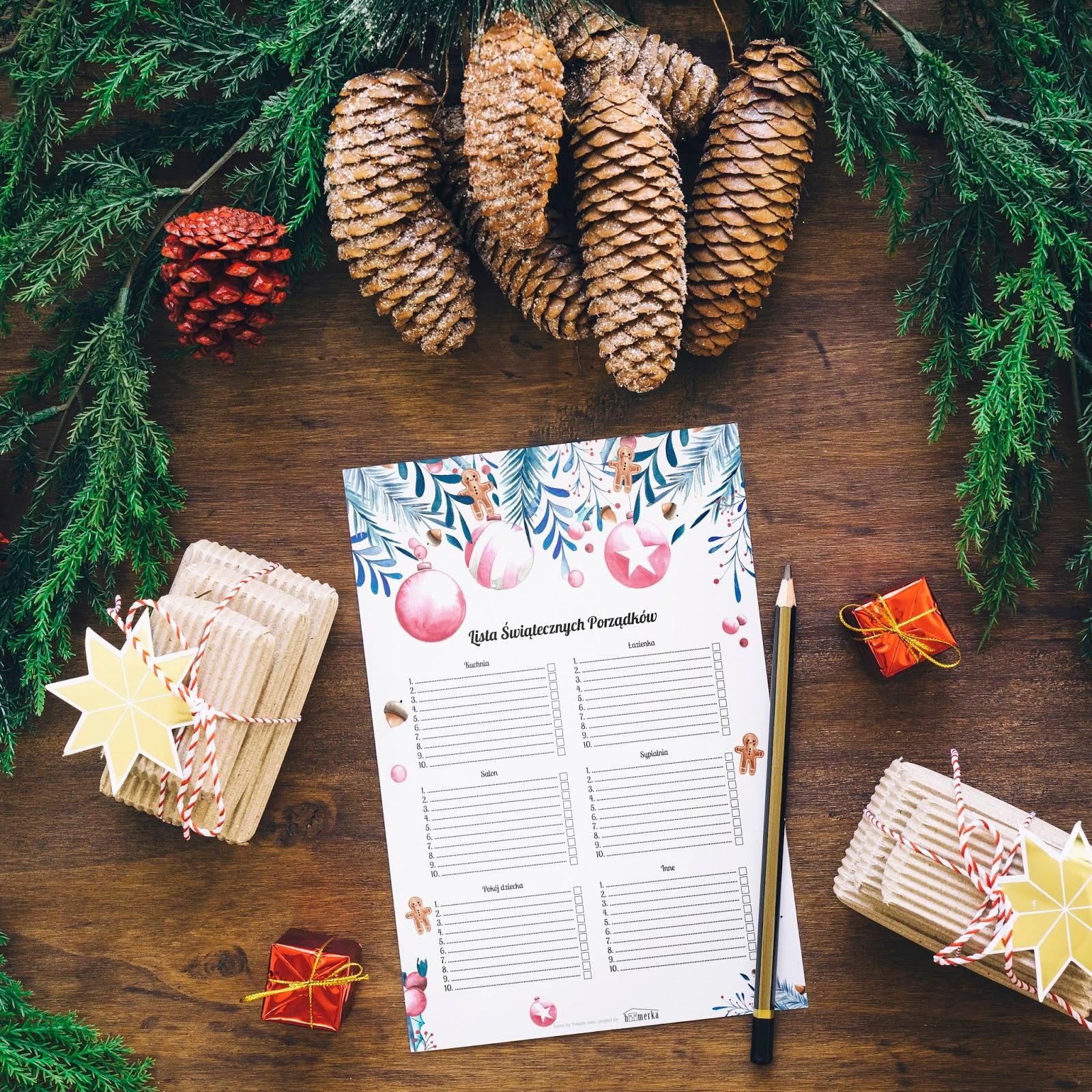 Świąteczna lista porządków do pobrania