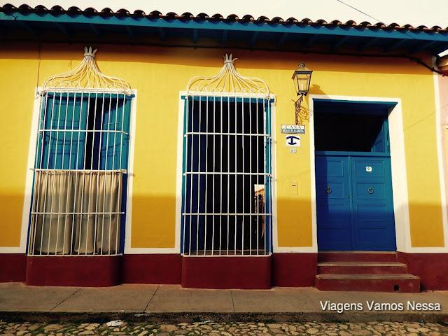Vista externa da Casa Brisas de Alameda, Trinidad Cuba