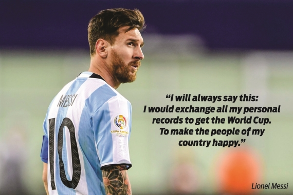 Lionel Messi has called it quits for Argentina at the age of 29, following defeats in four major finals.