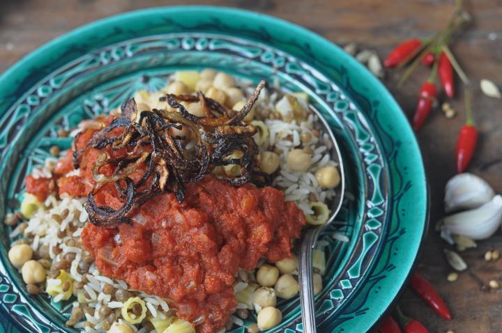 gluten free version of Egyptian Koshary