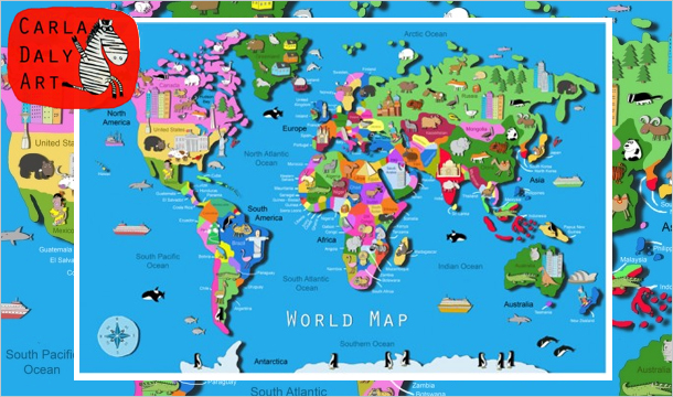 Kids Map Of Ireland.Its S A Jungle In Here 2 Kids Wall Maps For 28