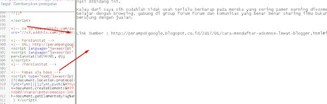 Pasang link sumber otomatis di setiap postingan yang dicopas