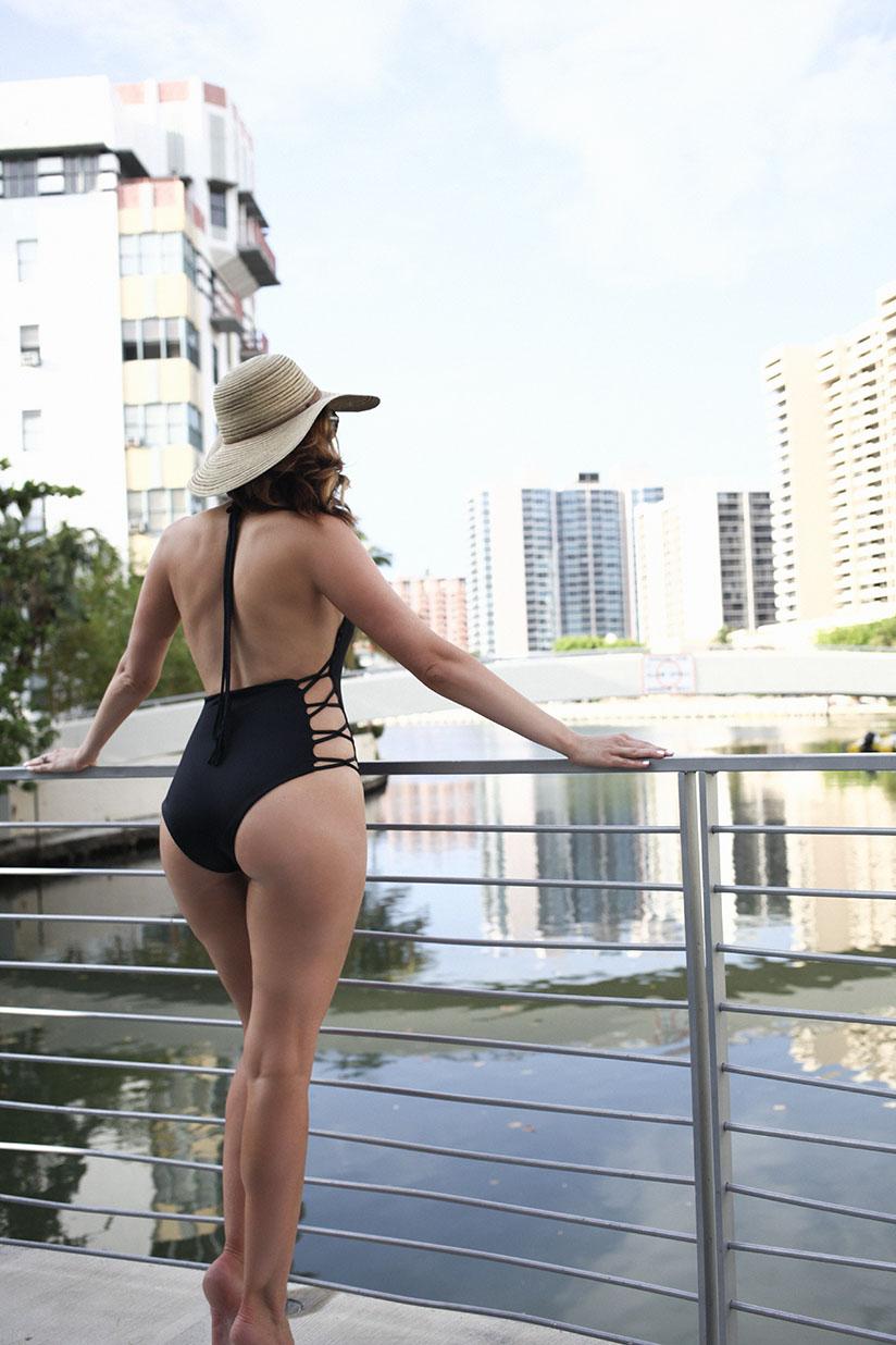 Amy West Travel in swimwear by Lisa Kaminski