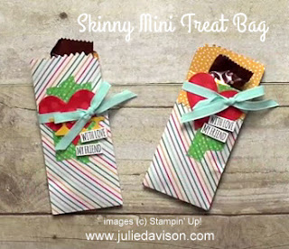 VIDEO for Skinny Mini Treat Bag with Cherry on Top Designer Paper #stampinup