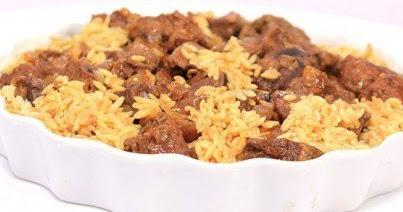 طريقة عمل مكعبات اللحم بالأرز ولسان العصفور