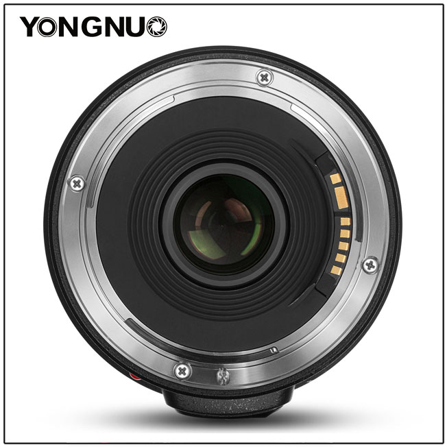 Yongnuo YN 14mm f/2.8,вид сзади