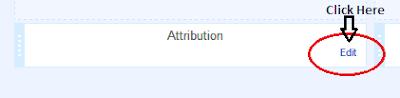 Remove Blogger Attribution Gadget