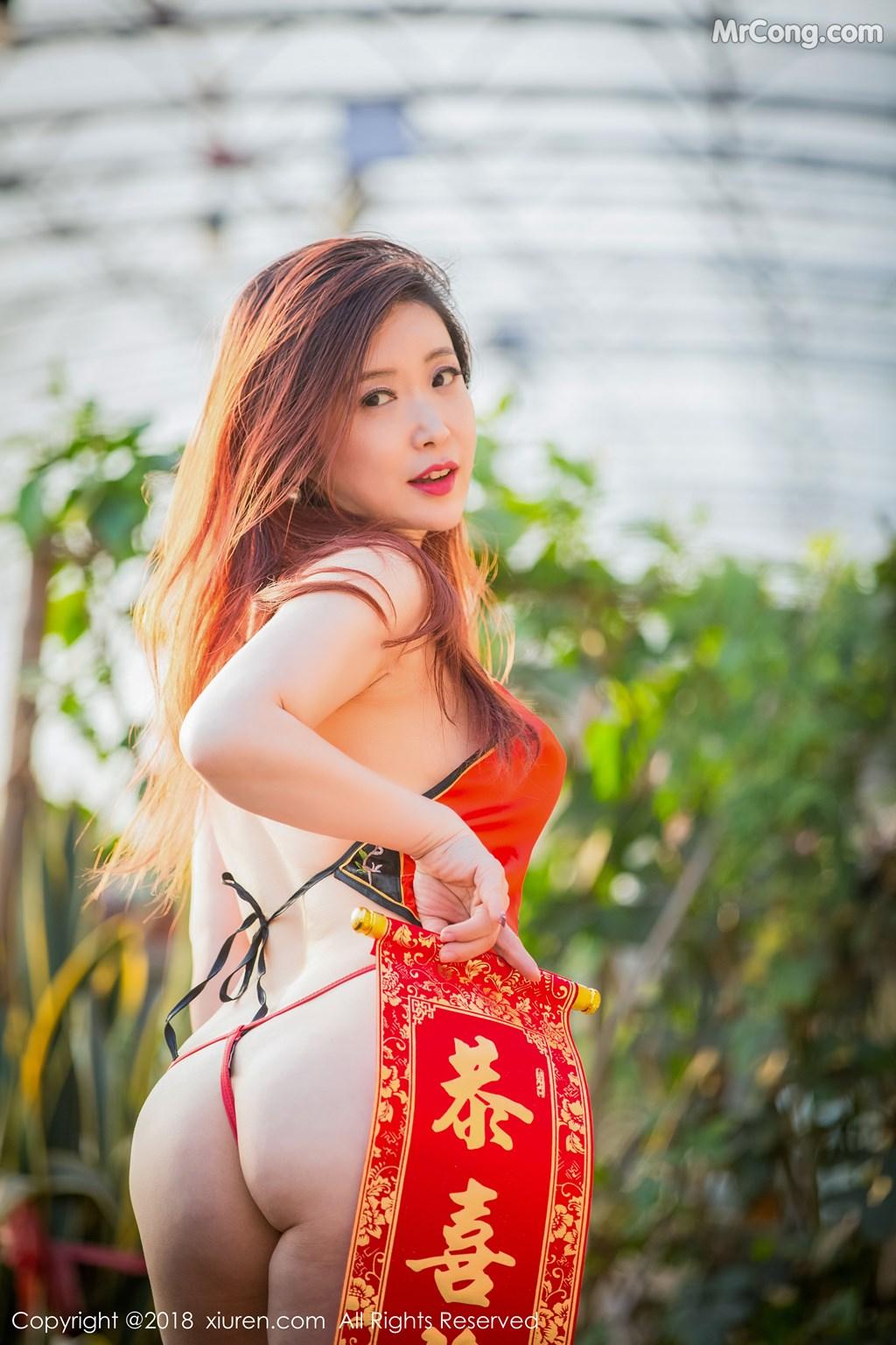 Image XIUREN-No.887-Xi-Xi-Bai-Tu-MrCong.com-015 in post XIUREN No.887: Người mẫu Xi Xi Bai Tu (西希白兔) (44 ảnh)