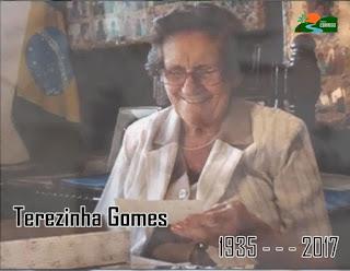 Terezinha Gomes falece aos 82 anos