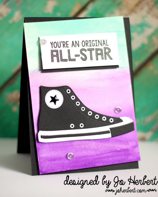 Laina Lamb Design Be Original stamp set and All-Star High Tops Die-namics - Jo Herbert #mftstamps