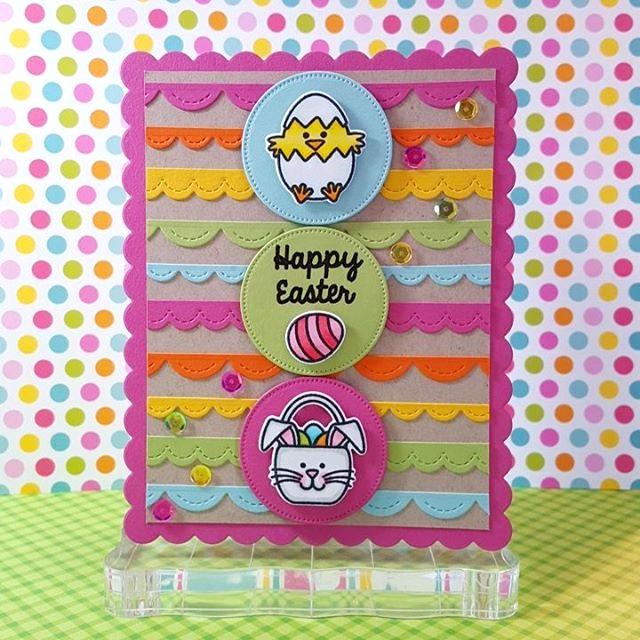 Sunny Studio:  A Good Egg Easter Card by Lindsey Bailey