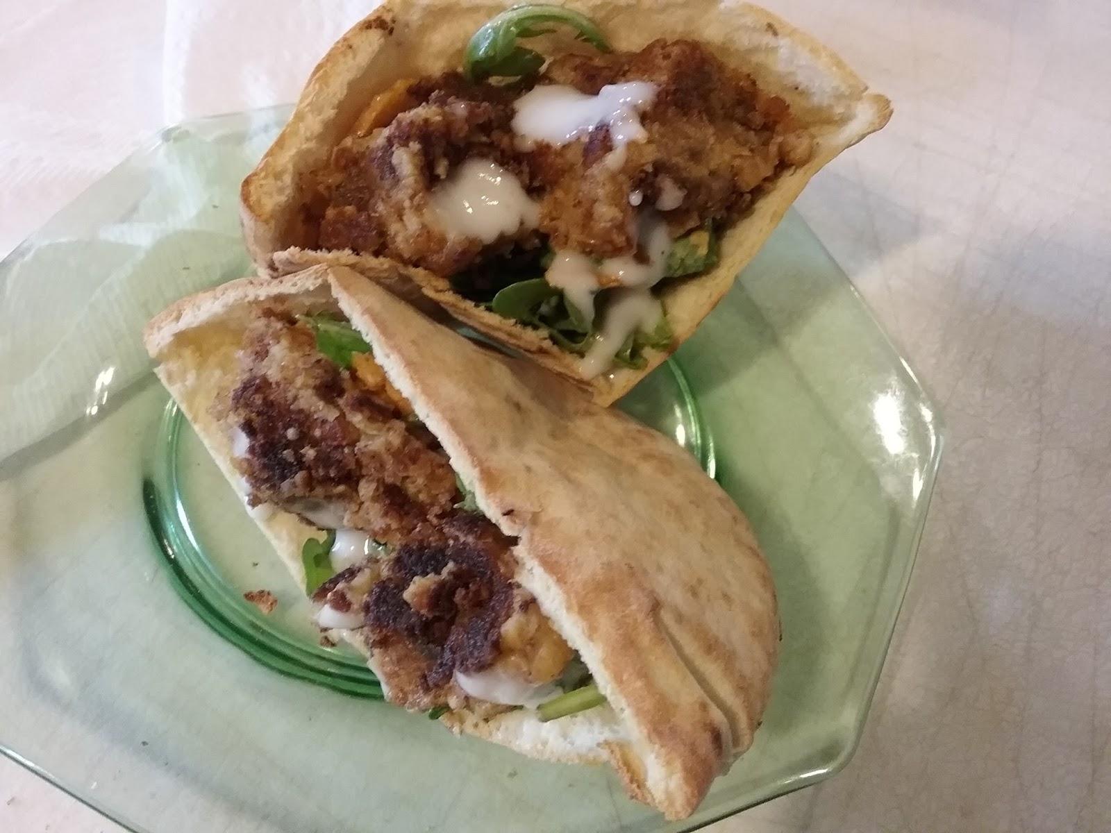 Blue apron falafel - Photo Credit Renee Sosanna Olson