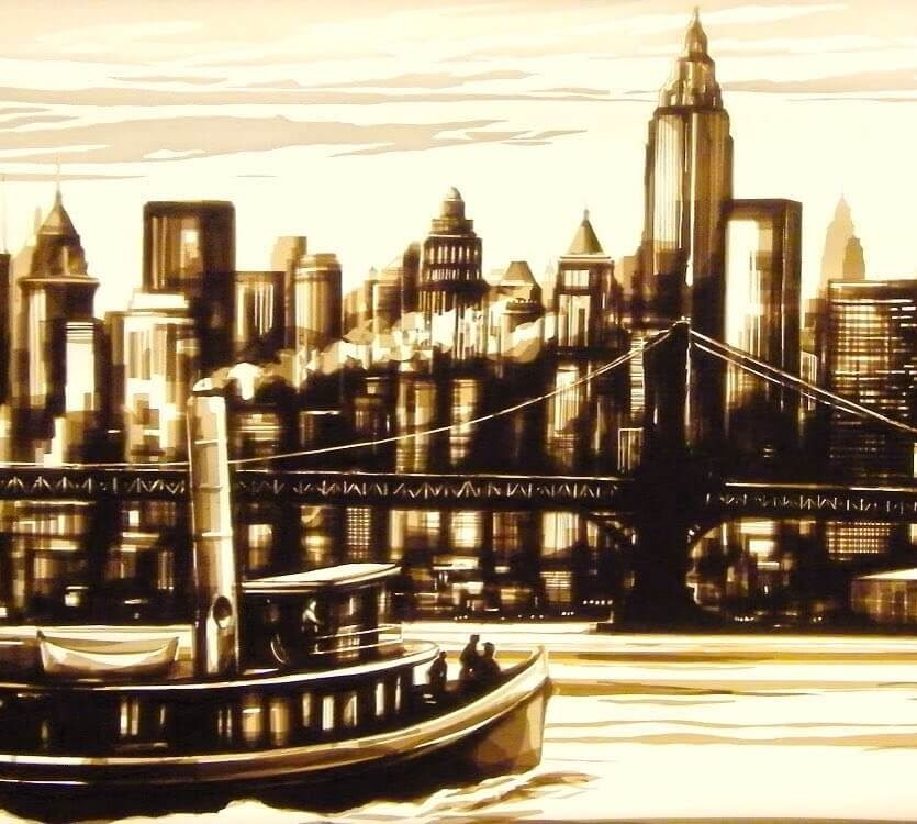 13-New-York-Ferry-Max-Zorn-Film-Noir-and-Vintage-Packing-Tape-Art-www-designstack-co
