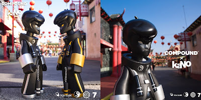 "Compound Exclusive Dragon King Black/Gold Edition & Black/Platinum Edition 20"" Vinyl Figures by kaNO x ToyQube"