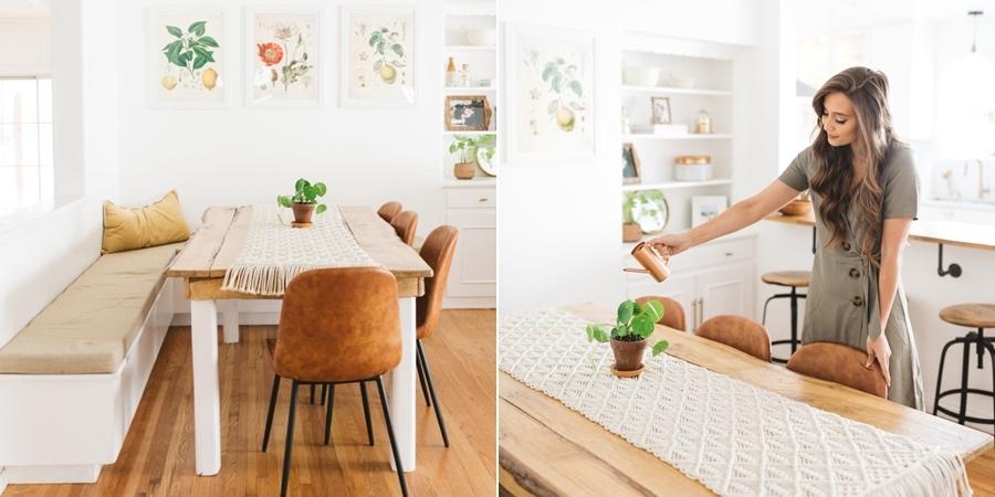 Słoneczny i modny dom w stylu vintage - wystrój wnętrz, wnętrza, urządzanie mieszkania, dom, home decor, dekoracje, aranżacje, minty inspirations, vintage, urban jungle, drewno, naturalne elementy, rośliny, hwiaty,