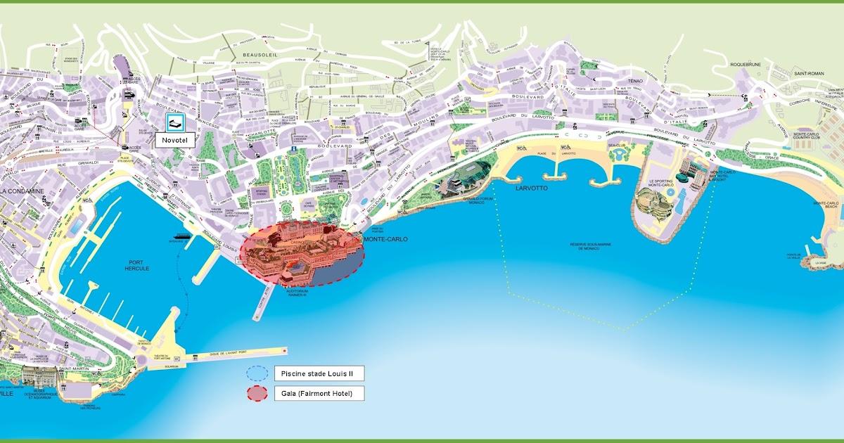 Monte Carlo World Map.Monaco Map Car Radio Gps