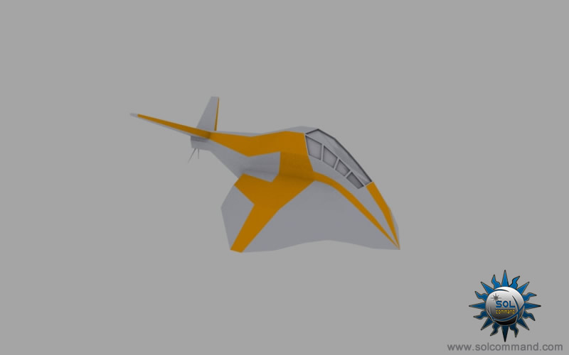 sholva glider 3d model free download goauld sg-1 stargate civilian fighter light interceptor combat spaceship space ship craft