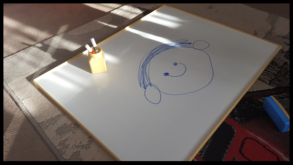 Portable whiteboard with Rustoleum