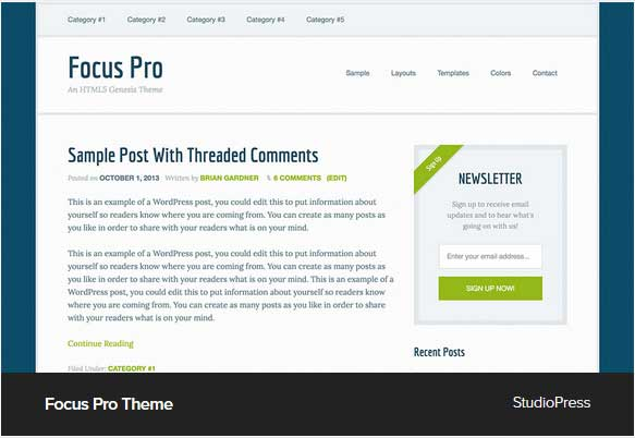 Focus Pro Theme Award Winning Pro Themes for Wordpress Blog : Award Winning Blog