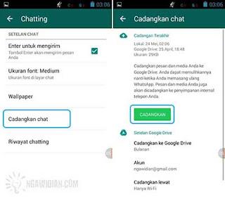 Backup Semua Pesan Whatsapp 8