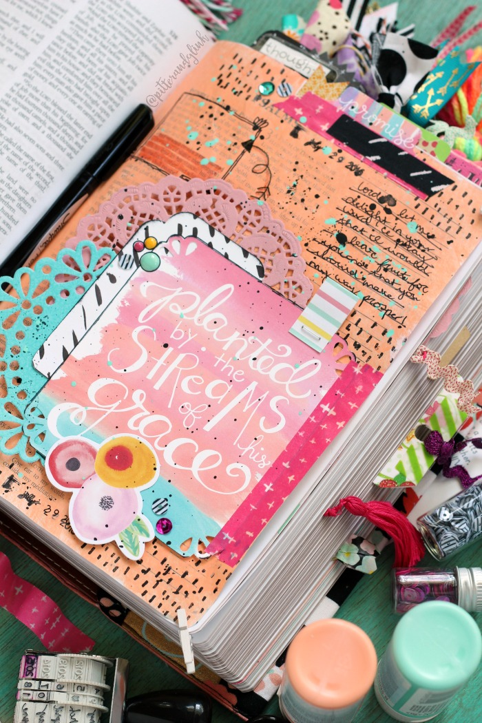 Bible Journaling Page Washi Tip-In
