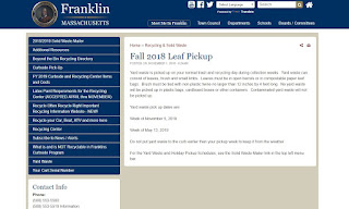 Franklin Residents: Fall 2018 Leaf Pickup