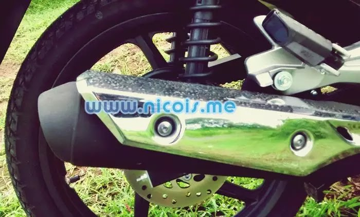 Tampilan knalpot New Supra X 125 FI 2014
