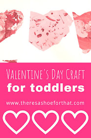 Simple DIY Valentine for Toddlers to paint and make a lasting impression with parents, grandparents, etc. #DIY #Valentine #Crafts