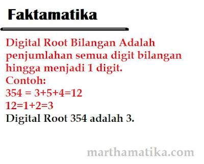 cara mencari digital root - akar digital