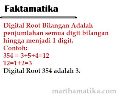 cara mencari digital root - akar digital