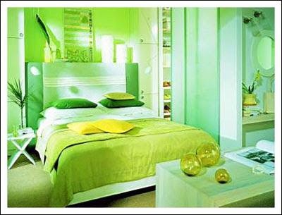 Green Color Bedroom Design Ideas