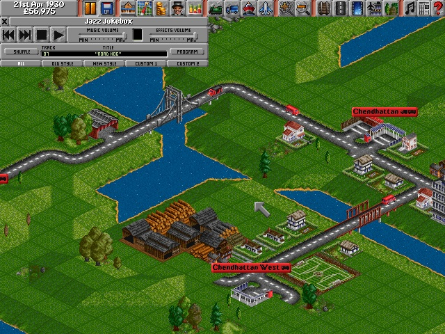 Screenshot from Transport Tycoon