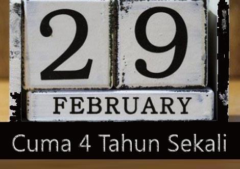 orang dengan kelahiran 29 februari