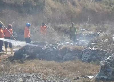 Lahan Pupuk Kompos Milik Dua Pabrik Gula di Madiun Terbakar
