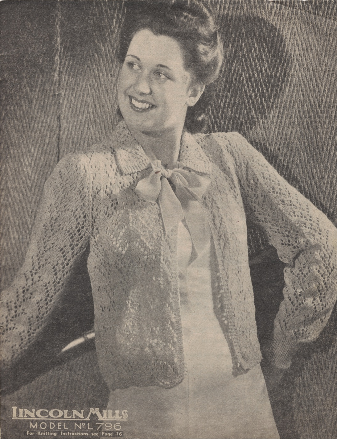 The Vintage Pattern Files: 1940s Knitting - Lincoln Mills No.930 ...