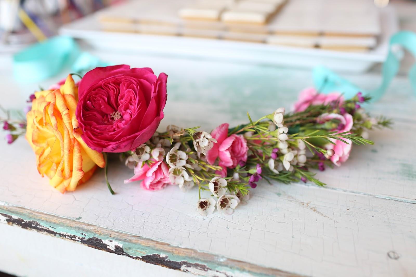 diy floral crown 21st birthday party