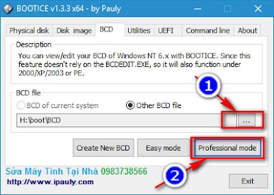 Sửa lỗi file BCD