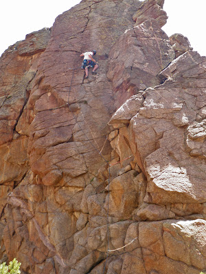 traditional climbing in Unaweep Canyon