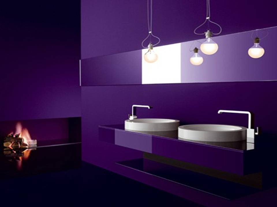 Black Purple Bathroom Sink